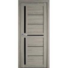 Межкомнатные двери Новый Стиль Диана с черным стеклом
