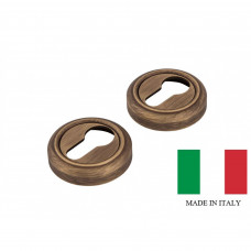 Накладка на замок Forme, круглая розетка с кольцом, бронза