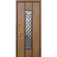 """Входные двери со стеклом и ковкой STRAJ """"PROOF"""" Классе"""