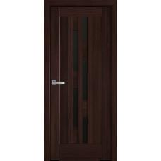 Межкомнатные двери Новый Стиль Лаура с черным стеклом