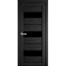 Межкомнатные двери Новый Стиль Лилу с черным стеклом