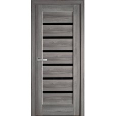 Межкомнатные двери Новый Стиль Линнея с черным стеклом