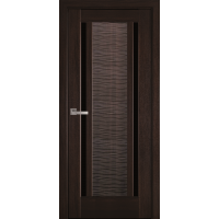 Межкомнатные двери Новый Стиль Луиза с черным стеклом