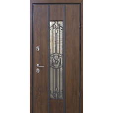 """Входные двери со стеклом и ковкой STRAJ """"PROOF"""" Nominal"""