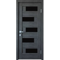 Межкомнатные двери Новый Стиль Пиана черное стекло