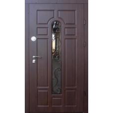 Входные двери со стеклом и ковкой Форт Трио-Классик стекло (уличные)